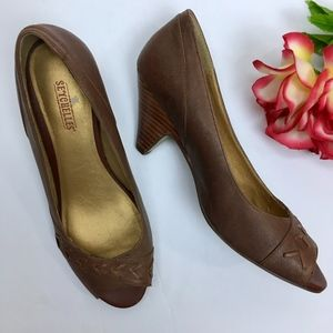 ANTHROPOLOGIE Seychelles LEATHER Heels Size 8